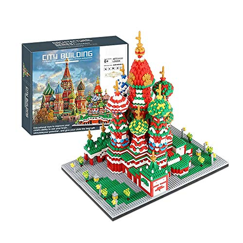 Saint Basil's Cathedral, World Famous Landmark 4872 Pieces Of Nano Mini Building Blocks Set Adult Children DIY Educational Toy Gift