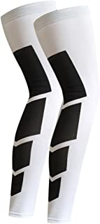 KIWI RATA 1 Pair/2 Pieces Long Athletics Knee Compression Sleeves Support Running,  Jogging,  Sports,  Joint Pain Relief,  Arthritis and Injury Recovery Thigh Wrap