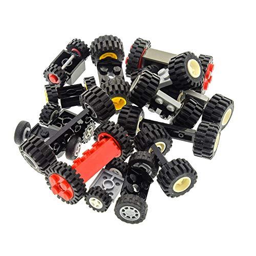 15 Achsen mit Rädern Rad Räder zufällig gemischt Lego B74