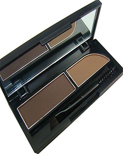 KAIKSO-IN Augenbrauen-Kuchen pwoder Brow Powder Makeup Augenbrauen Schatten 2 Farbe mischen...