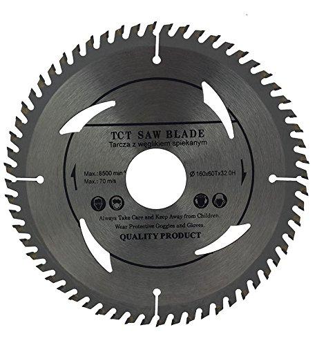 Hoja de sierra circular 160 mm con anillos de 30 mm, 28 mm, 25 mm, 22 mm y 20 mm, perfecta para discos de corte de madera circular de 160 mm x 32 mm x 60 dientes