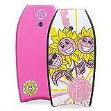 iBOARD Tabla de bodyboard ligera con cubierta de EPS, correa de alta calidad y correa de muñeca para surf para niños y adultos