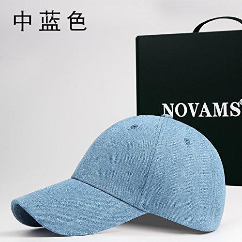 FQG * herfst jeans en baseball caps mannen katoen kleur vrouwelijke cap basic markiezen beweging in de blauwe kap