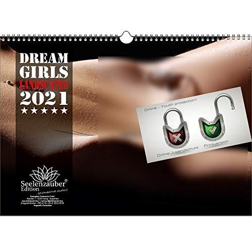 Dreamgirls Landscapes DIN A4 Kalender Querformat für 2021 Erotik - Seelenzauber