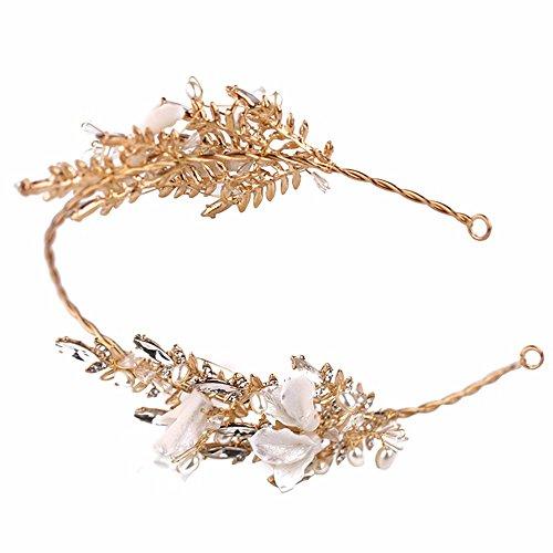 Weddwith Kopfschmuck Bridal Headwear European Style Brautkleider Kleider Diamond Flower Stirnbänder Ohrringe Set Korea Göttin Headwear Fashion Hairbands Set Zubehör