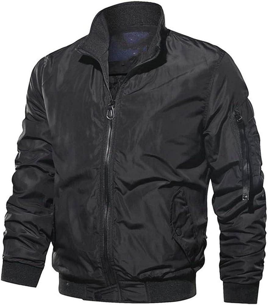 Men Casual Fees free!! Jacket Max 61% OFF Zipper Spring Mens Coats Jackets Bomber Pilot