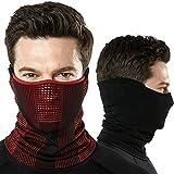 (テスラ)TESLA フェイスマスク ランニング マスク フェイスカバー ネックゲーター ネックガード [通気性・UVカット・吸汗速乾] ランニング ジョギング アウトドア 男女兼用YZB10-WHT_FREE