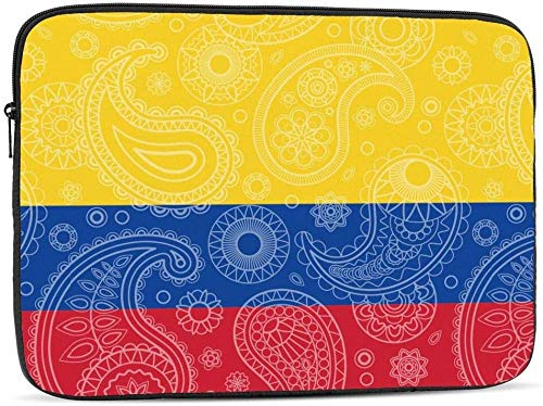 BONRI Chilean Paisley Flag Laptop Sleeve Bag Compatible with 10-17 Inch Funny Computer Bag Laptop Case-Colombian Paisley Flag,10inch