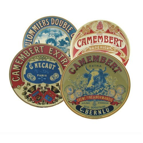 Vintage Style Camembert Cheese Plates Set of 4