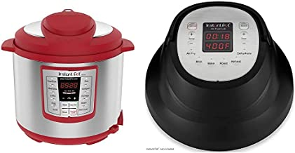 Instant Pot Lux 6-in-1 Electric Pressure Cooker, Slow Cooker, Rice Cooker, Steamer |6 Quart|Red|12 One-Touch Programs & Air Fryer Lid 6 in 1, Turn your Instant Pot into an Air Fryer, 6 Qt, 1500W