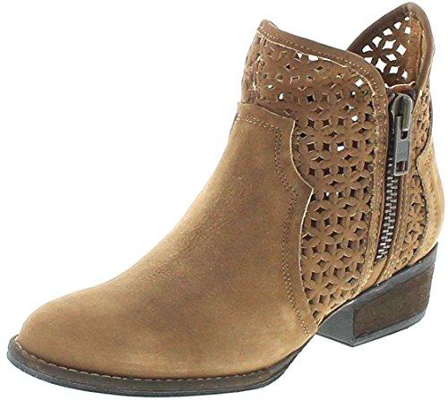 Mezcalero Shoes 2032 Carol Cognac Lederstiefelette für Damen Braun Fashion Stiefelette, Groesse:36