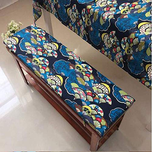 YINN Super Soft Bench Cushion 2 3 Seater,Exotic Style Outdoor Bench Seat Cushion with Fixing Ties,Seat Cushion Pad for Patio Garden Swing,Detachable&Washable