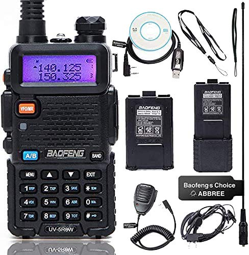 BaoFeng UV-5R High Power Two Way Radio Portable Ham Radio with one More 3800mAh Battery,Speaker, Antenna, USB Program Cable and Earpiece