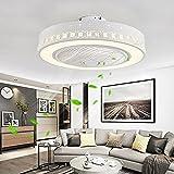 Smilvy Luz LED Moderna con iluminación, lámpara de Ventilador Regulable con Velocidad de Viento Ajustable, Ventilador de araña silencioso y Creativo, para Dormitorio, Sala de Estar, Comedor