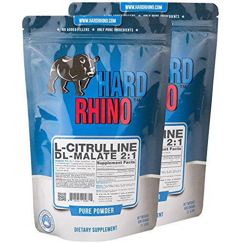Hard Rhino L-Citrulline DL-Malate 2:1 Powder, 1 Kilogram (2.2 Lbs),...
