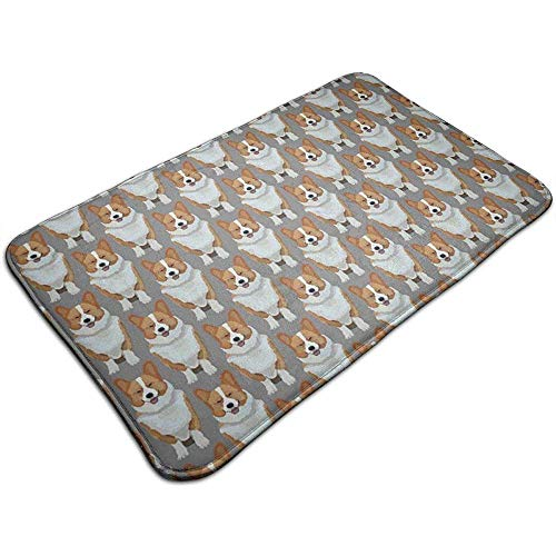 SESILY Möbel schmücken niedlichen Corgis Welpen dekorative Fußmatte rutschfeste Badematte, Teppiche im Freien Eintrag Teppiche