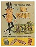 Mr Peanut Tin Sign Planters Metal Retro Vintage Tin Sign Bar Wall Decor Poster 12 X 8 Inches