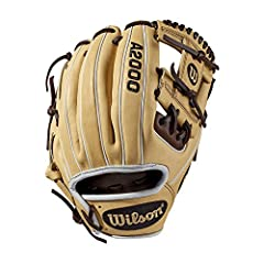 "Wilson A2000 1786 11.5"" Infield Baseball Glove Infield model; H-Web Double lacing at the base of the web Blonde/Dark Brown/White Pro Stock leather, preferred for its rugged durability and unmatched feel Flat finger binding Dual welting for a durable ..."