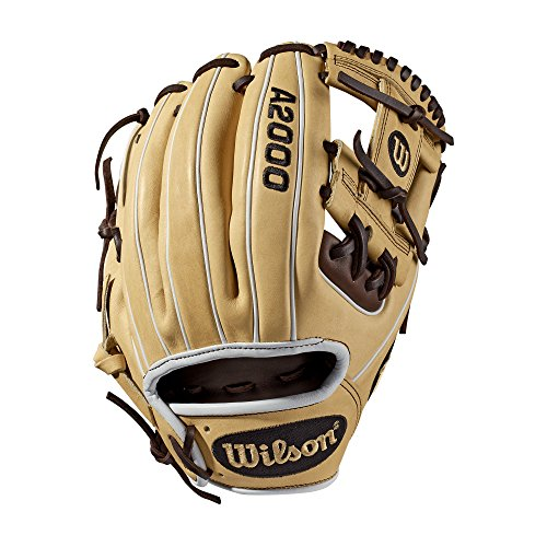"Wilson - Guante de béisbol serie A2000 - WTA20RB191786, 27,9 cm (11,5""), 11.5"", Blonde/Dark Brown/White - Infield Model"