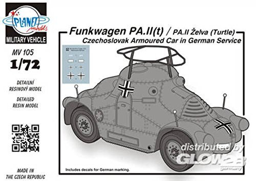 Planet Models mv105 – Modèle Kit Radio PA IIT/PA II Chariot zelva Turtle