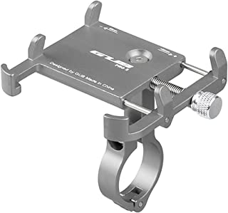 GUB Anti-slip Bicycle Adjustable Phone Holder Mount Aluminum Bike Handlebar Mobile Phone Holder Handlebar Clip Stand for 3...