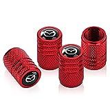 4 Pcs Tire Valve Stem Caps,Metal Air Valve Cap,Universal Stem Covers for Mazda CX-5 CX-7 CX-8 M6 MX5 RX7 RX8 A8 CX9 MX6 R3 M2 M3 M5 Logo Styling Decoration Accessories