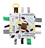 Baby Sensory, Educational & Teething Closed Ribbon Tag Lovey Blanket with Security Plush: 10'X10' (Football)