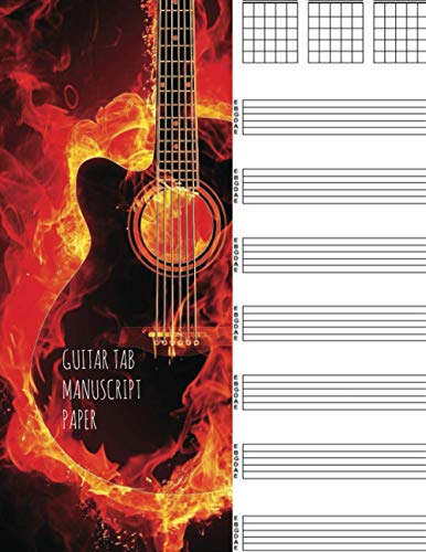 Guitar tab manuscript: Blank Guitar Tablature Book For Composing your Music and Songs (Music Books)