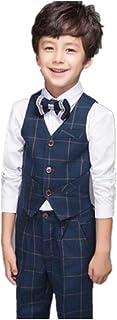 MARIAH(マリア) スーツ 子供タキシード キッズ ベスト ズボン シャツ 3点セット 男の子
