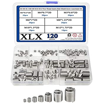 150pcs M3 M4 M5 M6 M8 Thread Repair Insert Kit Set Stainless Steel Helicoil