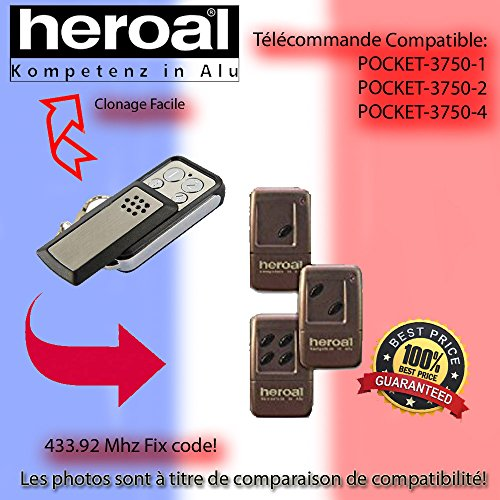 3750-4 Kompatibel Handsender ersatz X2 HEROAL POCKET 3750-1 3750-2 klone
