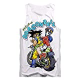 Cosstars Japanese Anime Tank Top Adulto Cosplay 3D Impreso Pullover Chaleco Verano Camisetas sin Mangas Dragon Ball 2 M