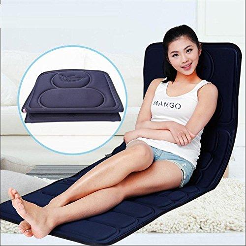 SHISHANG massaggio elettrico materasso multifunzione 8 set di massaggio riscaldamento regalo cuscino palla a eliminare la stanchezza per alleviare il dolore di formato blu scuro 169 * 58 * cm