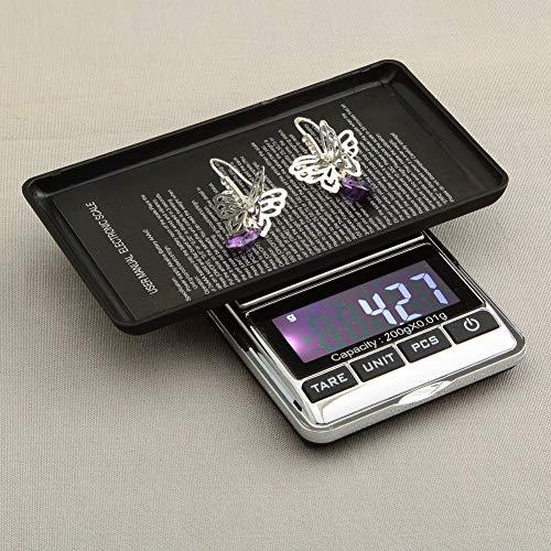 『最新版 携帯タイプ ポケットデジタル スケール 0.01g-200g精密 業務用(プロ用) デジタルスケール 電子天秤[1ヶ月の保証]』の1枚目の画像