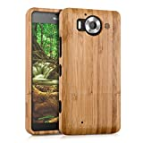 kwmobile Bamboo Wood Case for Microsoft Lumia 950 - Natural