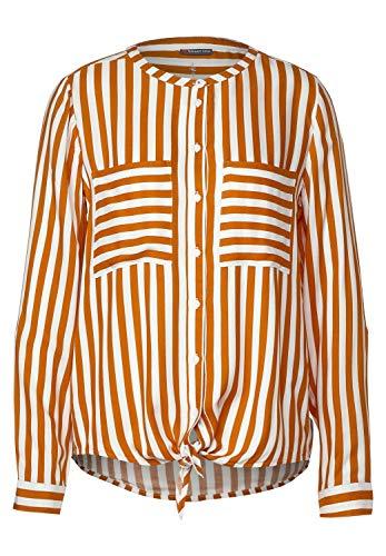 Street One Damen Bluse mit Streifenmuster Foxy Caramel 44