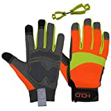 HANDLANDY Hi-vis Reflective Work Gloves,...