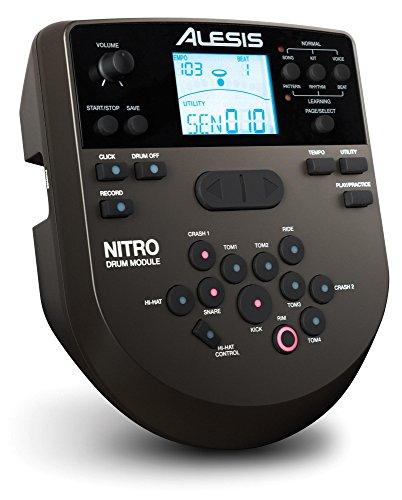 Alesis Nitro Mesh – Kit per batteria elettrica, 8 pezzi, con batteria elettronica, sgabello, bacchette, cuffie e molti accessori, colore: nero