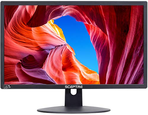 Sceptre E225W-19203R 22' Ultra Thin 75Hz 1080p LED Monitor 2x HDMI VGA Build-in Speakers, Machine Black