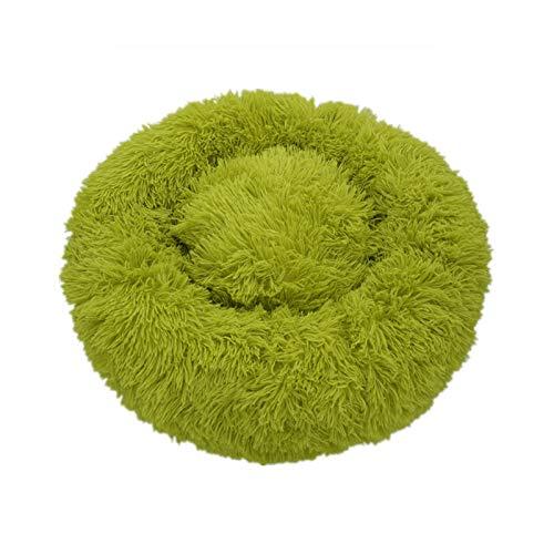 Cama de perro suave felpa gato Mat camas para perros grandes cama casa cojín redondo producto mascotas Accesorios verde-60cm