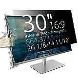 Xianan 30' (16:9) Blickschutzfilter für Breitbild Monitor - 26,14x14,7' / 664x373,5mm Privacy Filter Displayfilter PC Blickschutzfolie - Wir bieten 3 Verschiedene 30' Filtergrößen