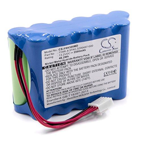 vhbw NiMH batería 3500mAh (13.2V) para fusionadora Fujikura FSM-18R, FSM-18S, FSM-50R, FSM-50S, FSM-60R, FSM-60S por BTR-08, 11HR-4/3FAU.