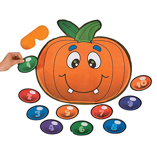 Fun Express Halloween Game Pin The Nose On The Pumpkin (up to 10 Players)