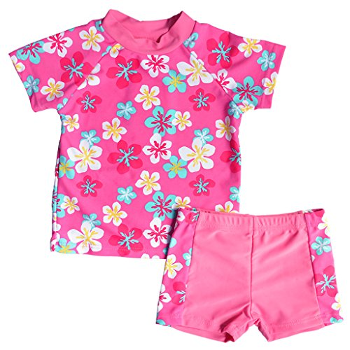 Girls Two Piece Swimsuit Floral ...