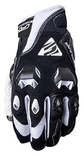 Five Advanced Gloves Stunt Evo Handschuhe für Erwachsene, Schwarz/Weiß, Größe 10