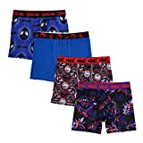 Spiderman Boys' Big Avengers Boxer Brief, 4pk Athletic Assorted, 8