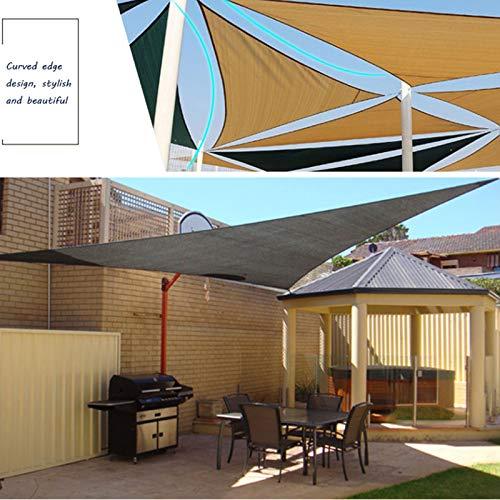 Yanty Malla Sombra Protector Solar,Sombra Toldo,Tela Sombra Multifuncional,Triángulo3x4x5m (10 * 13 * 16 Pies),para Jardín Al Aire Libre,Balcones,Parque De Atracciones,Gris