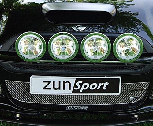 Zunsport Compatible con Mini Cooper S Mini Cooper R50 JCW & R53 JCW - Parrilla Central - Acabado Negro (De 2000 a 2006)
