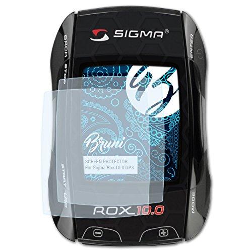 Bruni Schutzfolie kompatibel mit Sigma Rox 10.0 GPS Folie, glasklare Displayschutzfolie (2X)