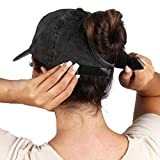 Ponyflo Cotton Ponytail Hat - Ponytail Caps for Women, Designed for All Hair Types
